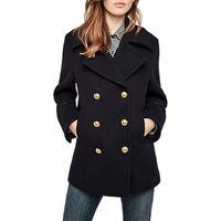 Gerard Darel Double Breasted Coat, Blue