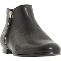 Dune Panders Block Heeled Ankle Boots, Black