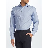 John Lewis Non Iron Gingham Regular Fit Shirt, Blue