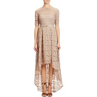 Adrianna Papell High-Low Lace Dress, Antique Bronze
