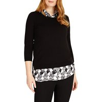 Studio 8 Sia Knit Top, Black/White