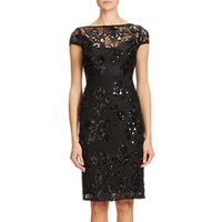Adrianna Papell Sequined Knee Length Pencil Dress, Black