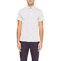 Ted Baker Texgoe Cotton Short Sleeve Oxford Shirt, White