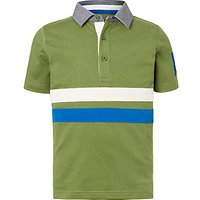 John Lewis Boys Rugby Polo Shirt, Green