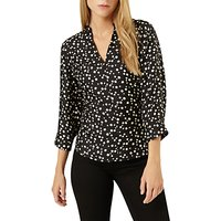 Damsel in a dress Hexa Print Blouse, Black/Beige