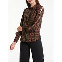 Max Studio Long Sleeve Printed Shirt, Black/Red