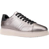 Geox Thymar Breathable Lace Up Trainers, Taupe
