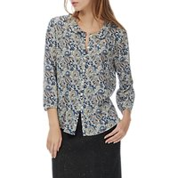 Brora Liberty Print Silk Peter Pan Blouse