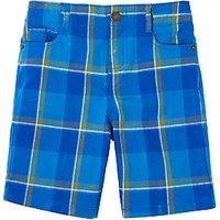 John Lewis Boys Check Chino Shorts, Blue