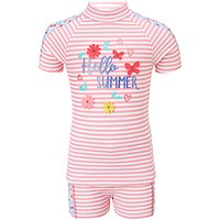 John Lewis Girls Hello Summer Sunpro Two Piece Set, Pink