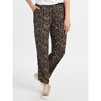 Collection WEEKEND by John Lewis Ditsy Floral Print Trousers, Black/Multi