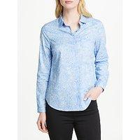 John Lewis Martha Botanical Floral Shirt, Pale Blue