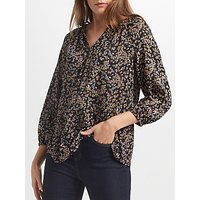 Collection WEEKEND by John Lewis Ditsy Floral Print Top, Black/Multi