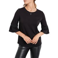 hush Ruffle Top, Black