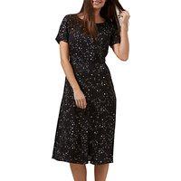 Sugarhill Boutique Cassie Starry Sky Dress, Black/White