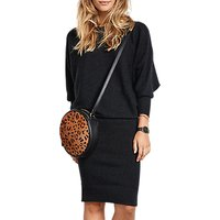 hush Alexandra Dress, Charcoal Marl