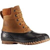 Sorel Cheyanne II Leather Mens Snow Boots, Brown/Black