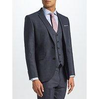 John Lewis Semi Plain Tailored Suit Jacket, Petrol