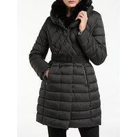 Gerry Weber Faux Fur Trim Padded Coat, Black