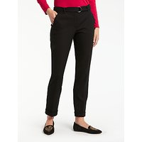 Gerry Weber Straight Leg Belted Trousers, Black