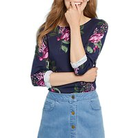 Joules Harbour Long Sleeve Printed Jersey Top, French Navy Artichoke Floral