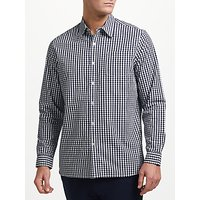 John Lewis Cotton Poplin Gingham Shirt, Navy