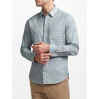 John Lewis Dahlia Tile Print Shirt, Navy