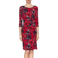 Gina Bacconi Fiona Floral Jersey Dress, Red