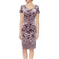 Gina Bacconi Phoebe Floral Velvet Dress, Autumn Rose