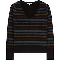 Gerard Darel Lilo Wool Cashmere Blend Jumper, Multicolour