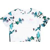 Hype Girls Side Plant T-Shirt, White