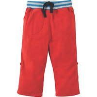 Frugi Organic Baby Little Adventure Rollup Trousers, Red