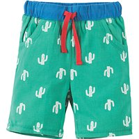 Frugi Organic Boys' Sean Cactus Print Shorts, Green