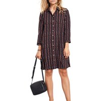 hush Posey Shirt Dress, Black/Multi