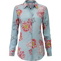 Pure Collection Washed Silk Blouse, Painted Floral