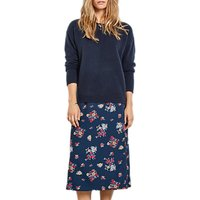 hush Vienna Floral Wrap Skirt, Navy