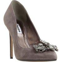 Dune Bardot Jewelled Stiletto Heeled Court Shoes