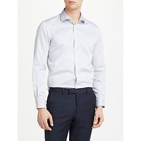 John Lewis and Partners Non Iron Cotton Twill Slim Fit Shirt, Grey