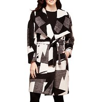 Yumi Mono Pop Waterfall Coat, Monochrome