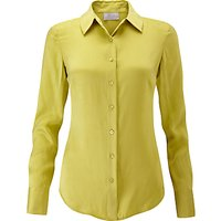 Pure Collection Washed Silk Blouse, Chartreuse
