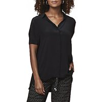 East Combination Silk Blouse, Black