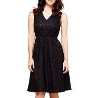 Yumi Lace Midi Dress, Black
