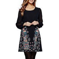 Yumi Peacock Placement Tunic, Navy