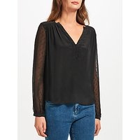 Pyrus Lola Silk Blouse, Black