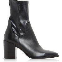 Dune Black Padock Pointed Toe Ankle Sock Boots, Black