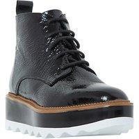 Dune Black Prynce Flatform Ankle Boots, Black