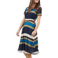 Sugarhill Boutique Lyra Autumn Stripe Dress, Multi