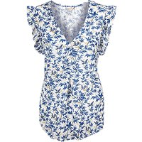 Fat Face Jodie Songbirds Blouse, Ivory