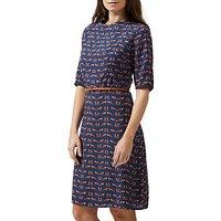 Sugarhill Boutique Alysia Foxy Dress, Navy/Multi