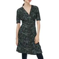 Brora Liberty Print Jersey Wrap Dress, Coal Swirl
